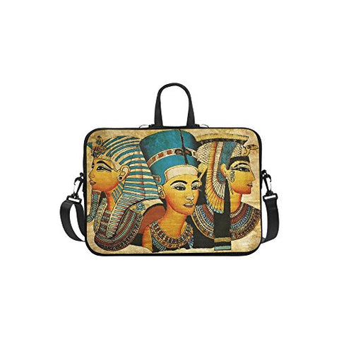 Interestprint Egypt Women Shoulder Strap Computer Bag, Ancient Egyptian Parchment Neoprene Laptop