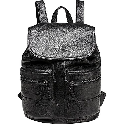 Vicenzo Leather Millie Backpack (Black)