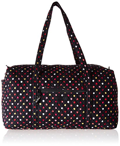 Women's Large Duffel, Signature Cotton, Havana Dots
