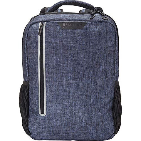 "Kenneth Cole Reaction Heathered Polyester 15.6"" (RFID) Laptop Backpack Navy W/Gray Pop, One Size"