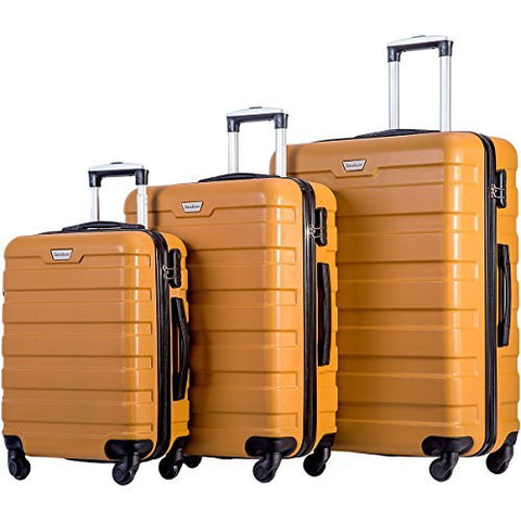 Merax Travelhouse Luggage 3 Piece Luggage Set Suitcase