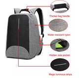 SAMI TUDIO Anti-theft Backpack with USB Charging Port Business Laptop Backpack Fits to 15.6 Inch Computer Lightweight Water-resistant Knapsack Gray CB0402