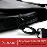 "DURAGADGET Luxury PU Leather 15.6"" Laptop Zip-up Carry Bag in Black - Compatible with The Lenovo"