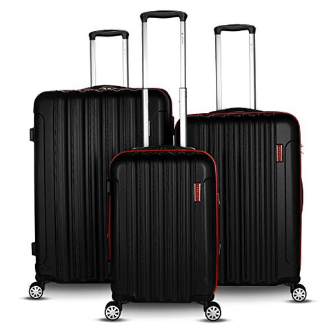 Gabbiano Hola 3 Piece Expandable Hardside Spinner Luggage Set (Red)