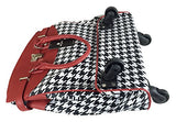 Trendy Flyer Computer/Laptop Rolling Bag 4 Wheel Case Houndstooth Red