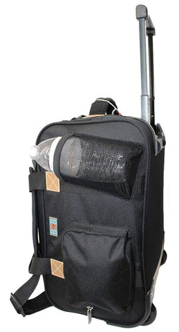 "17"" Rolling Personal Item Under Seat Luggage For Virgin Australian, Sun Country, Alaska, Delta Airlines (Black)"