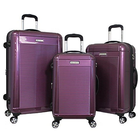 World Traveler Regal 3-Piece Hardside Lightweight Spinner Luggage Set, Purple