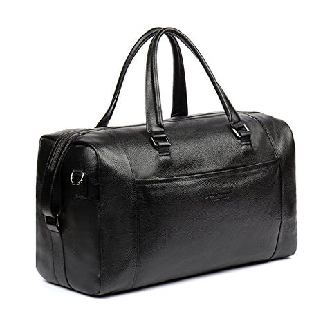 BOSTANTEN Genuine Leather Duffel Travel Weekender Overnight Bag Gym Sports Tote Duffle Bags for Men