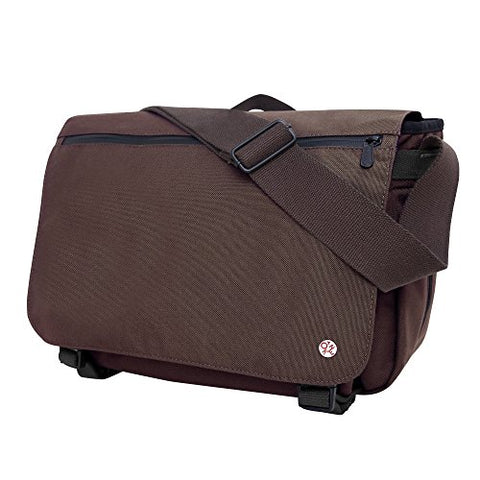 Token Whitehall Laptop Messenger Bag Tk-439 Color: Dark Brown