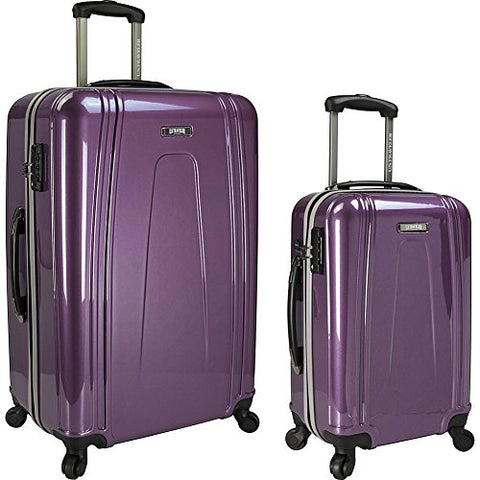 U.S. Traveler 2-Piece Usb Port Ez-Charge Spinner Set, Purple