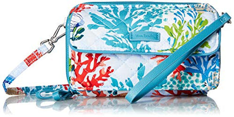Vera Bradley Iconic RFID All in One Crossbody, Signature Cotton, Shore Thing