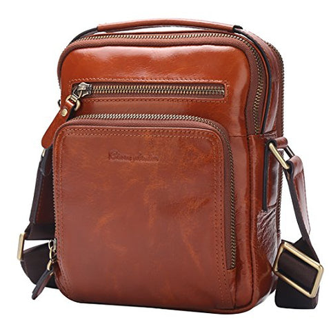 Bison Denim Stylish Soft Leather Bags For Men, Sling Pack Backpacks,Crossbody Multipurpose