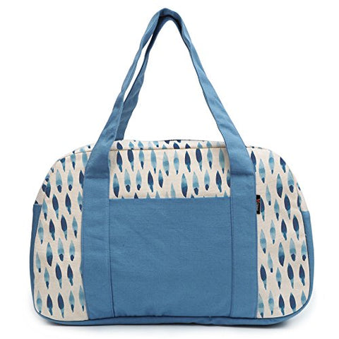 Women'S Watercolor Blue Rhombus-4 Printed Canvas Duffel Travel Bags Was_19