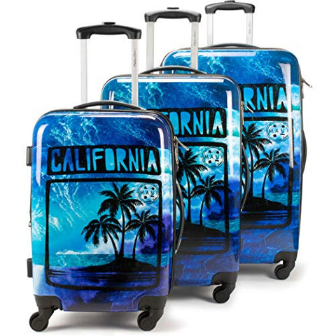 Maui and Sons 3 Piece Expandable Hardside Spinner Luggage Set with TSA Lock