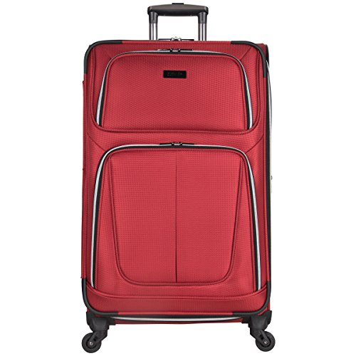 "Kenneth Cole Reaction Lincoln Square 28"" 1680D Polyester Expandable 4-Wheel Upright Pullman, Red"