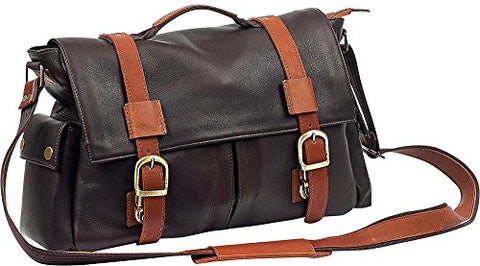 Classic Messenger Bag With Two Side Pockets