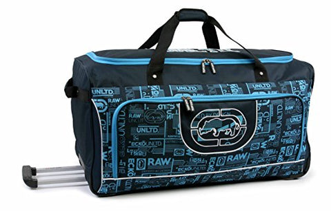 Ecko Unltd. 32 Inch Alpha Rolling Duffel, Navy/Light Blue, One Size