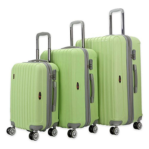 The Green Brio Thick Rib 3-Piece Hardside Spinner Luggage Set