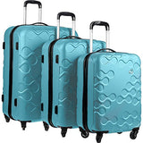 Kamiliant Harrana 3 Piece Hardside Spinner Luggage Set (Turquoise)