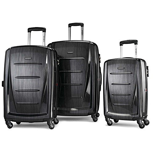 Samsonite Winfield 2 3PC Hardside (20/24/28) Luggage Set, Brushed Anthracite