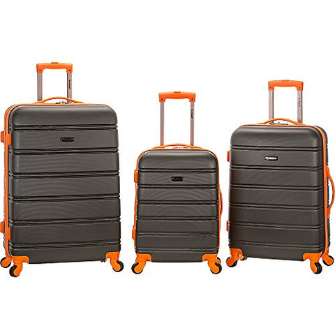 Rockland Luggage Melbourne 3 Piece Set, Charcoal