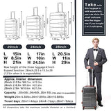 "COOLIFE Luggage Expandable(only 28"") Suitcase PC+ABS Spinner Built-in TSA Lock 20in 24in 28in Carry on 