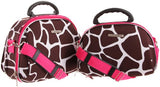 Rockland Luggage Rockland 2 Piece Cosmetic Set, Pink Giraffe, One Size