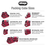 eBags Packing Cubes for Travel - 4pc Classic Plus Set - (Black)