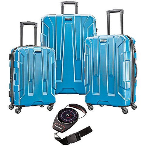 Samsonite Centric Hardside Luggage Set Caribbean Blue W/Luggage Scale Red/Black