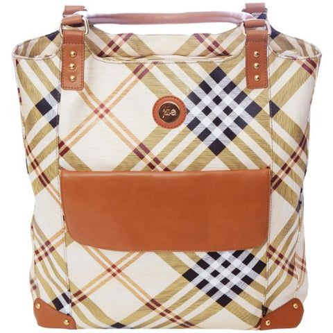 Jill-E Designs E-Go Tote (Tan Plaid)