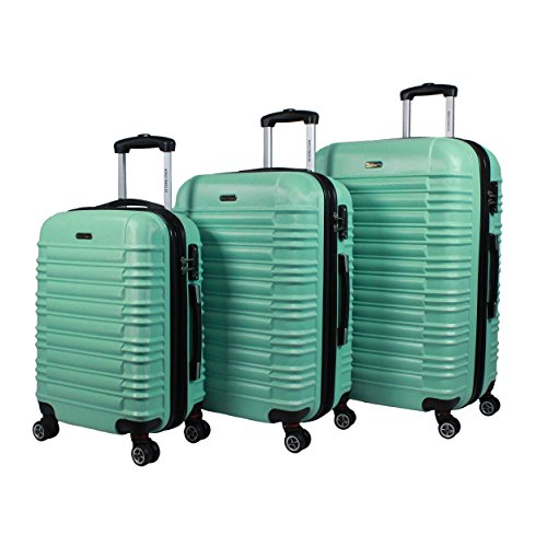 World Traveler California Ii 3-Piece Hardside Tsa Spinner Luggage Set, Mint