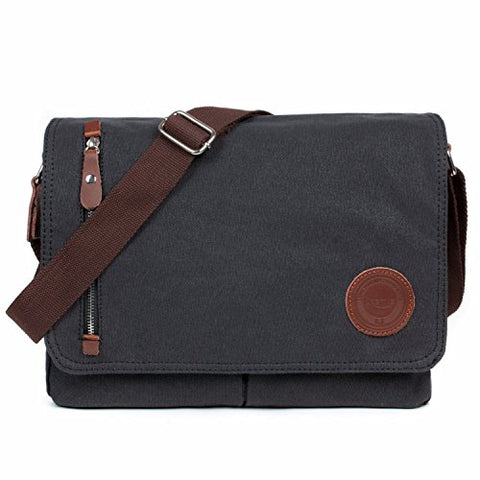 Losmile Canvas Messenger Bag Shoulder Bag Vintage Crossbody Laptop Bag Satchel Bag School Bag