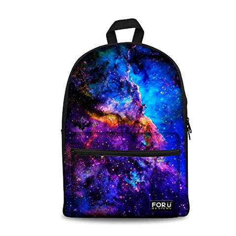 Freewander Galaxy Personalized School Backpack Primary School Canvas Book Bags (C0164J)