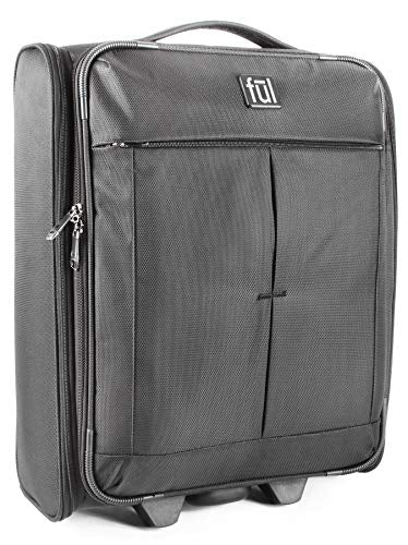 "ful Fold Up 21"" Soft Sided Rolling Luggage, Black"