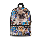 Bigcardesigns Pug Dog School Bag Backpack With Pencil Case Kids