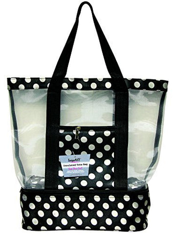 Tempamate Insulated Tote Bag, Black/White Dots, One Size