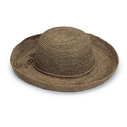 Wallaroo Women'S Catalina Sun Hat - Handwoven Twisted Raffia Sun Hat, Mushroom
