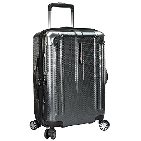 Traveler's Choice New London 100% Polycarbonate Trunk Spinner Luggage - Gray ( 22-Inch )