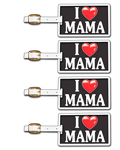 Tag Crazy I Heart Mama Four Pack, Black/White/Red, One Size
