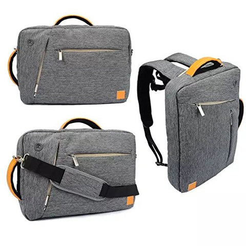 "VanGoddy Grey Universal Hybrid Backpack / Briefcase / Messenger / Tote, 4 in 1 Multifunction Laptop / Tablet Carrying Bag (13.3"")"