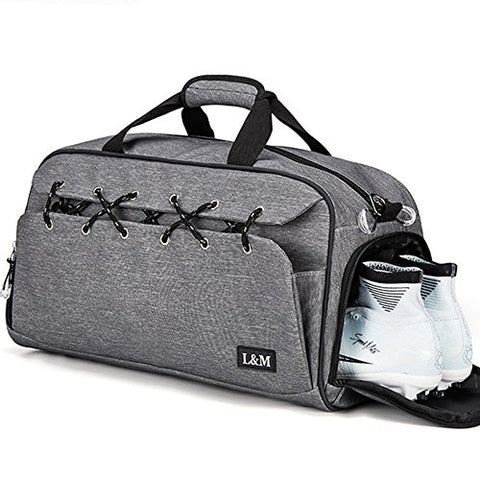 Gym Duffel Bag Sports Travel Tote Bag Overnight for Men and Women with Shoe Compartment, Wet