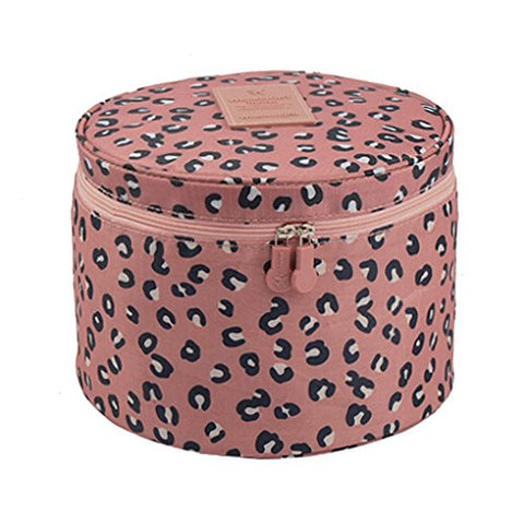 FakeFace Cute Compact Design Round Toiletry Cosmetic Bag Underwear Tidy Organizer Makeups Container
