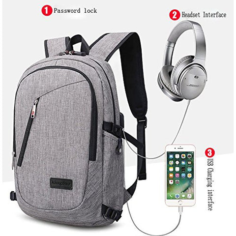 GAOAG Laptop Backpack with USB Charging Port and Lock Fits Under 15.6 Inch Laptop and Travel