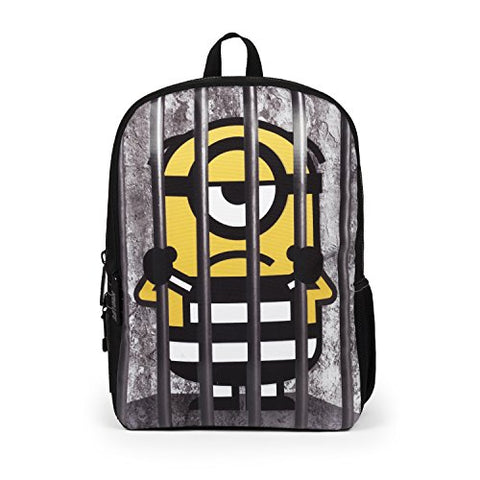 Mojo Life Despicable Me Minions Behind Bars Backpack School Bag