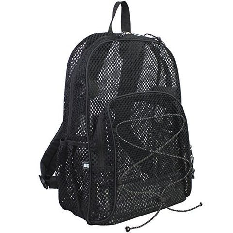 Eastsport Mesh Bungee Backpack, Black, One Size