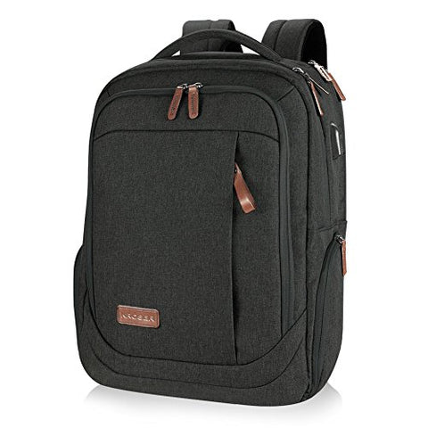 KROSER Laptop Backpack Large Computer Backpack for 15.6-17.3 Inch Laptop with USB Charging Port