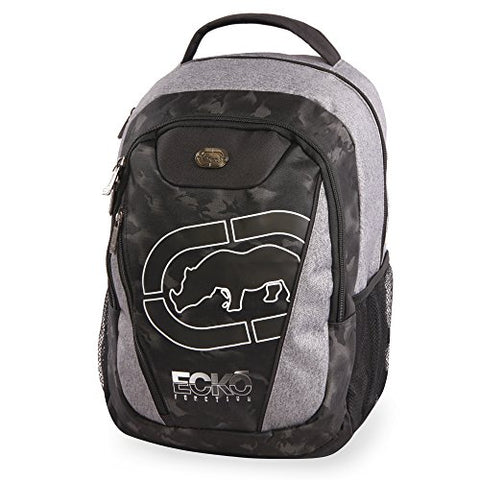 Ecko Unltd. Boys' Block Tablet School Bag Fits Up To 15 Inch Laptop Backpack, Heather/Black, One