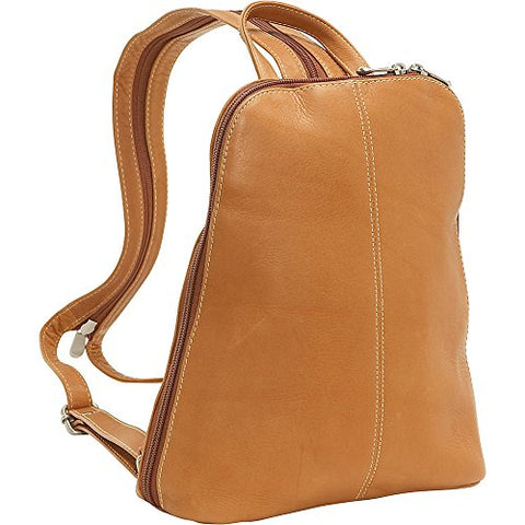 Le Donne Leather U-Zip Woman'S Sling/Back Pack (Tan)