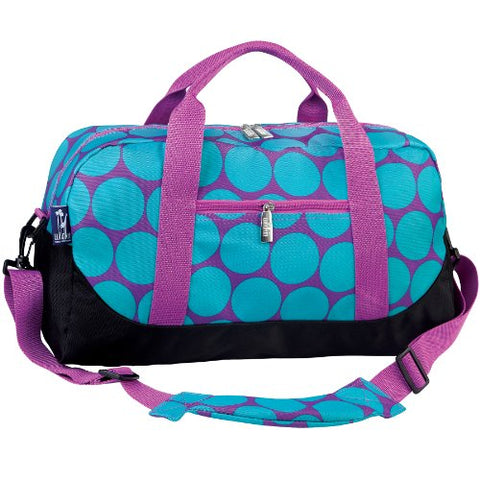 Wildkin Big Dots Aqua Overnighter Duffel Bag