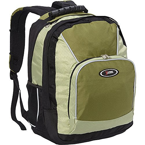 Everest Xtreme Multi-Compartment Backpack, Desert Green/Dark Greaan/Black, One Size
